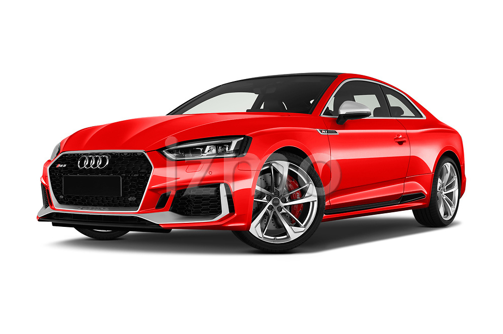 Stock pictures of low aggressive front three quarter view of a 2018 Audi RS5 Base 2 Door Coupe