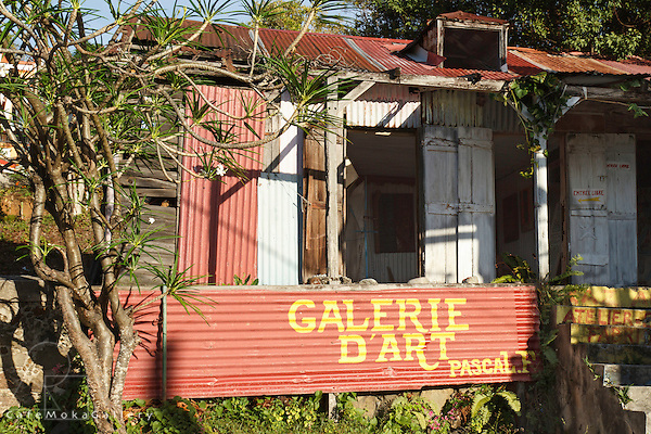 Art gallery made from galvanise