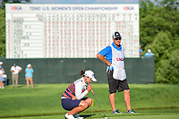 Amy Yang (KOR) waits to putt on 18 during Sunday's final round of the 72nd U.S. Women's Open Championship, at Trump National Golf Club, Bedminster, New Jersey. 7/16/2017.<br /> Picture: Golffile | Ken Murray<br /> <br /> <br /> All photo usage must carry mandatory copyright credit (&copy; Golffile | Ken Murray)