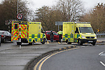 RTC at the junction of Bridge of Peace and Rathmullen road on 13/2/14<br /> Picture: Fran Caffrey www.newsfile.ie