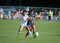 Kansas City, MO - Sunday September 04, 2016: Desiree Scott, Samantha Kerr during a regular season National Women's Soccer League (NWSL) match between FC Kansas City and the Sky Blue FC at Swope Soccer Village.