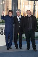 Singer Raphael, producer Enrique Cerezo and director Alex de la Iglesia pose during `Mi gran noche´ film presentation in Madrid, Spain. February 20, 2015. (ALTERPHOTOS/Victor Blanco) /NORTEphoto.com