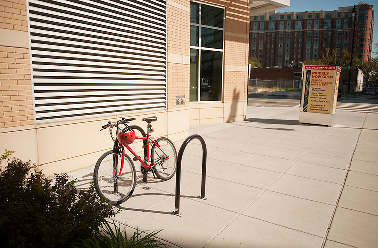 UNITED STATES - OCTOBER 07:  Bike rack on L St, SE.  (Photo By Tom Williams/Roll Call)
