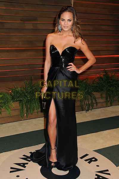 02 March 2014 - West Hollywood, California - Christine Teigen, Chrissy Teigen. 2014 Vanity Fair Oscar Party following the 86th Academy Awards held at Sunset Plaza.  <br /> CAP/ADM/BP<br /> &copy;Byron Purvis/AdMedia/Capital Pictures
