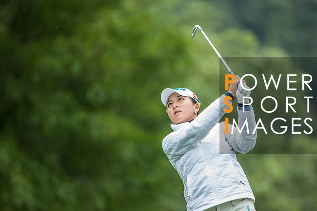 Lin Tzu-Chi of Chinese Taipei tees off during Round 1 of the World Ladies Championship 2016 on 10 March 2016 at Mission Hills Olazabal Golf Course in Dongguan, China. Photo by Victor Fraile / Power Sport Images