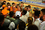 12 MAR 2016:  Head coach Beth Alford-Sullivan of the University of Tennessee talks to her team during the Division I Men's Indoor Track & Field Championship held at the Birmingham Crossplex in Birmingham, Al. Tom Ewart/NCAA Photos