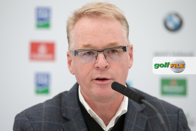 European Tour Chief Executive Keith Pelley during Wednesday's Pro-Am ahead of the 2016 Dubai Duty Free Irish Open Hosted by The Rory Foundation which is played at the K Club Golf Resort, Straffan, Co. Kildare, Ireland. 18/05/2016. Picture Golffile | David Lloyd.<br /> <br /> All photo usage must display a mandatory copyright credit as: &copy; Golffile | David Lloyd.