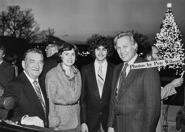 Congressman and other party members during Christmas party in 1979. (Photo by Keith Jewell/CQ Roll Call via Getty Images)