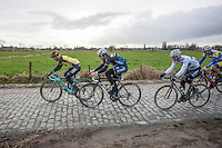 on the cobbles<br /> <br /> 1st Dwars door West-Vlaanderen 2017 (1.1)