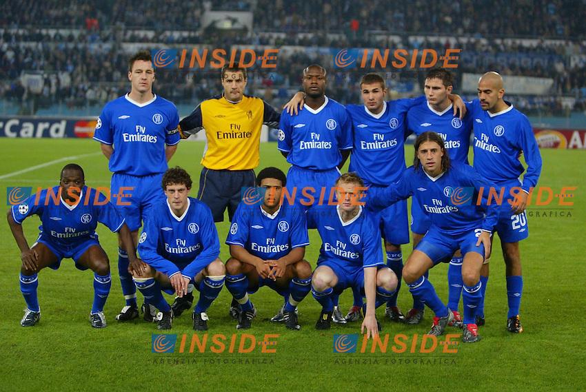 La formazione del Chelsea<br /> Lazio Chelsea<br /> Calcio 2003/2004<br /> Foto Andrea Staccioli Insidefoto
