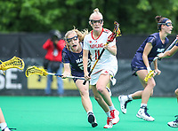 College Park, MD - May 19, 2018: Maryland Terrapins Brindi Griffin (1) in action during the quarterfinal game between Navy and Maryland at  Field Hockey and Lacrosse Complex in College Park, MD.  (Photo by Elliott Brown/Media Images International)