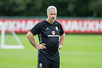 Kit Symons during Wales national team training at Vale Resort, Hensol, Wales on 4 September 2017, ahead of the side's World Cup Qualification match against Moldova. Photo by Mark  Hawkins.