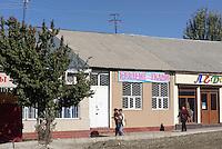 Stra&szlig;e in Karakol, Kirgistan, Asien<br /> Street in Karakol, Kirgistan, Asia