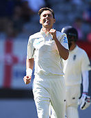 22nd March 2018, Eden Park, Auckland, New Zealand; International Test Cricket, New Zealand versus England, day 1;  Trent Boult celebrates taking his 5th wicket of Woakes