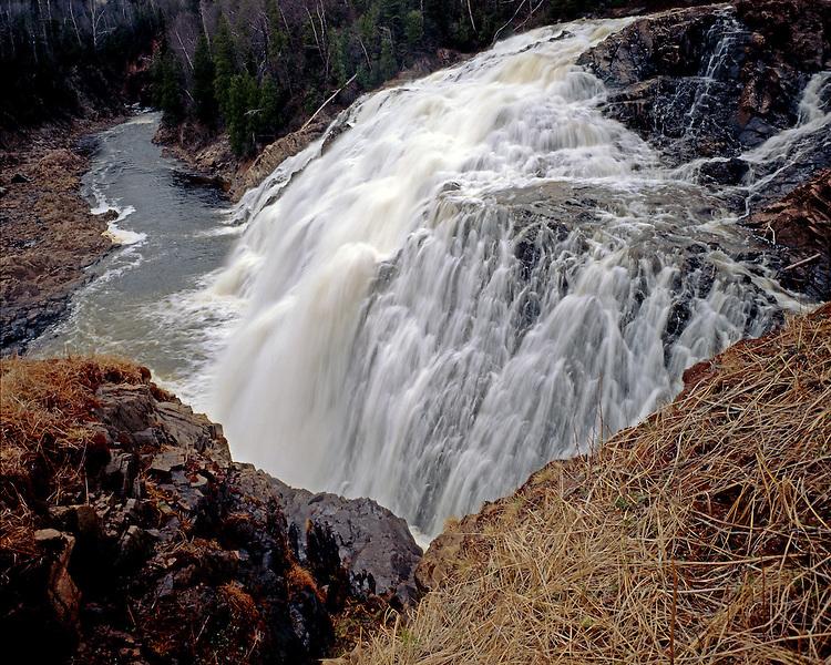 High Falls of the Magpie River, Ontario, Canada, September, 1990