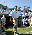 02 September 2006: UNC Offensive Line coach Mark Webber. The University of North Carolina Tarheels lost 21-16 to the Rutgers Scarlett Knights at Kenan Stadium in Chapel Hill, North Carolina in an NCAA Division I College Football game.