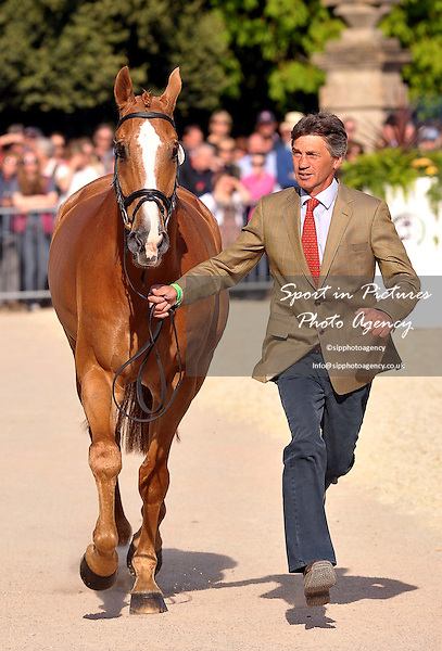 TROT UP. Andrew Nicholson (NZL) riding Nereo, Accepted.  Mitsubishi Motors Badminton Horse Trials. Badminton. Gloucestershire. 06/05/2013. MANDATORY Credit Peter Reynolds/SIP - NO UNAUTHORISED USE - 07837 394578