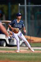 CJ Kayfus during the WWBA World Championship at the Roger Dean Complex on October 20, 2018 in Jupiter, Florida.  CJ Kayfus is a first baseman from Wellington, Florida who attends Palm Beach Central High School and is committed to Miami.  (Mike Janes/Four Seam Images)