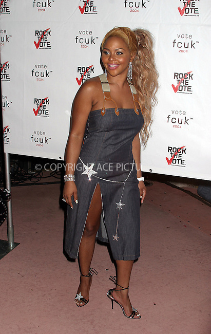 LIL' KIM at FCUK YOU I'm Voting party, Miami, Florida. August 27, 2004. Please byline: Chloe Red -- ACE PICTURES.   .. *** ***  ..Ace Pictures, Inc  **  ..contact: Alecsey Boldeskul (646) 267-6913 **..Philip Vaughan (646) 769-0430 **..e-mail: info@acepixs.com