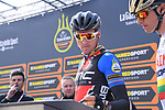 Race leader Greg Van Avermaet (BEL) BMC Racing Team Maglia Azzurra at sign on before the start of Stage 3 of the 2017 Tirreno Adriatico running 204km from Monterotondo Marittimo to Montalto di Castro, Italy. 10th March 2017.<br /> Picture: La Presse/Gian Mattia D'Alberto | Cyclefile<br /> <br /> <br /> All photos usage must carry mandatory copyright credit (&copy; Cyclefile | La Presse)