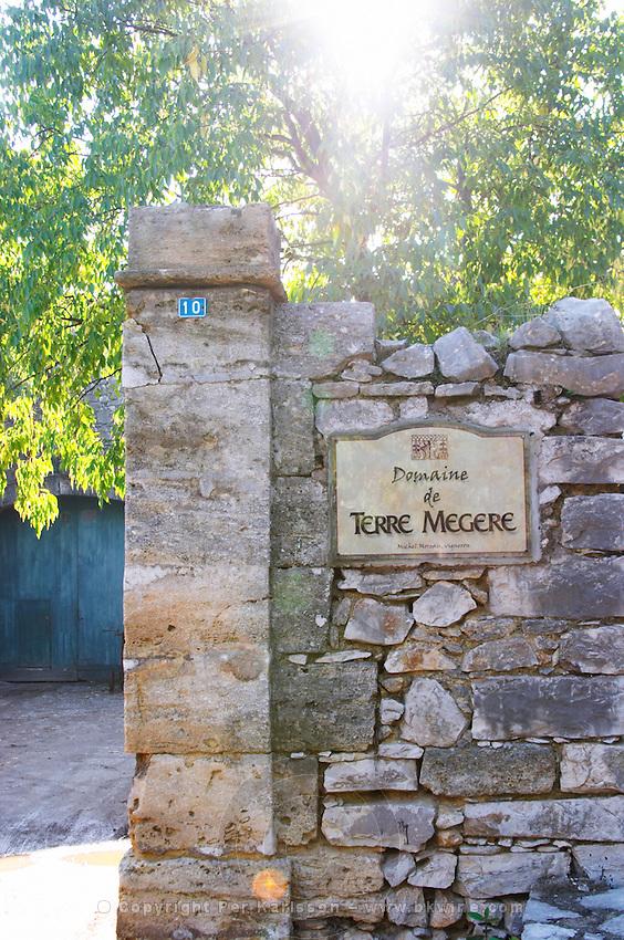 Domaine de Terre Megere, Cournonsec, Montpellier. Gres de Montpellier. Languedoc. France. Europe.
