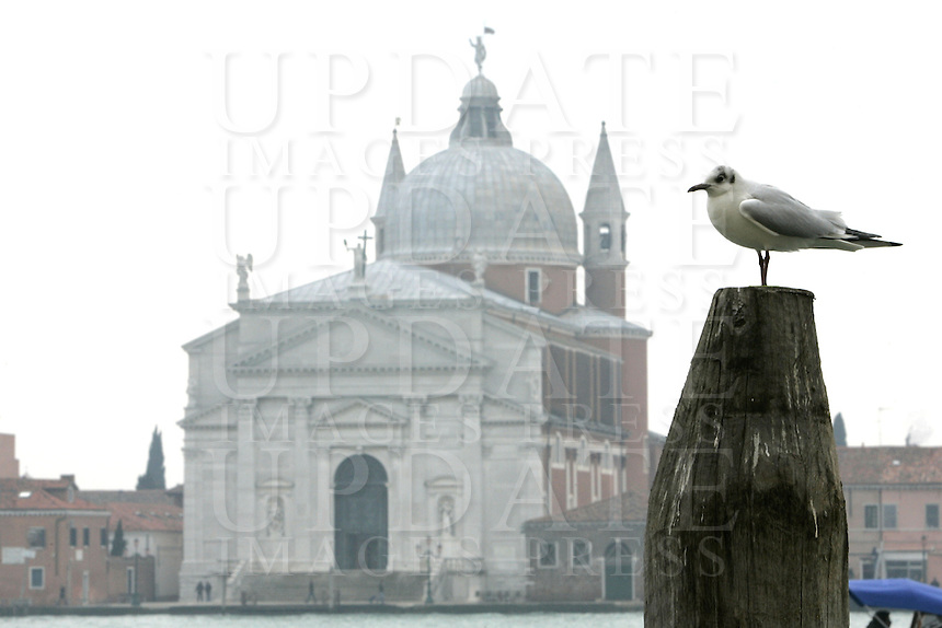 La Chiesa del Santissimo Redentore, sull'isola della Giudecca, Laguna di Venezia.<br /> The Church of the Most Holy Redeemer on the Giudecca island, Venice Lagoon.<br /> UPDATE IMAGES PRESS/Riccardo De Luca