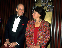 Montreal (Qc) CANADA - 1995 File Photo -Charles Bronfman, Seagram's co-Chairman and his wife.<br /> <br /> Charles Rosner Bronfman, PC, CC (born June 27, 1931 in Montreal) is a Canadian businessman and philanthropist.<br /> <br /> He is the son of Samuel and Saidye Bronfman; his siblings are Minda, architecture expert Phyllis, and Edgar. He is the uncle of Edgar Bronfman, Jr.. Charles Bronfman is the widower of his second wife, Andrea Bronfman.