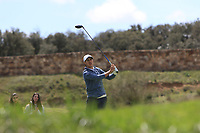 Chase Koepka (USA) on the 11th tee during Round 2 of the Open de Espana 2018 at Centro Nacional de Golf on Friday 13th April 2018.<br /> Picture:  Thos Caffrey / www.golffile.ie<br /> <br /> All photo usage must carry mandatory copyright credit (&copy; Golffile | Thos Caffrey)