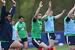 British & Irish Lions training session.Conor Murray doing some stretching excercises before the Lions first training session in Wales..Vale Resort.15.05.13.©Steve Pope