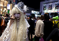 Young people dressed in costumes to celebrate Halloween in Shibuya, Tokyo, Japan. Thursday, October 31st 2013