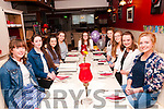 18th Birthday: Lisa Mulvihill, Moyvane, centre celebrating her 18th birthday with friends at Eabha Joan's Restaurant, Listowel on Friday night last. L-R: Eileen O'Connell, Audrey Lacey, Ainne Dore, Margaret Mulvihill, Lisa Mulvihill, Lauren Stack, Moire O'Flaherty, Roisin Noonan & Maeve Carmody.