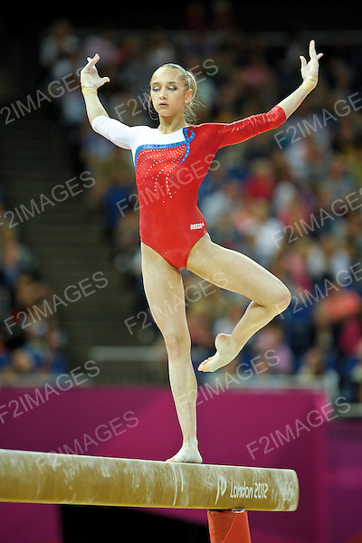 Olympics London 2012. Gymnastics Womens Qualifications 29.7.12. Greenwich Arena. Victoria Komova
