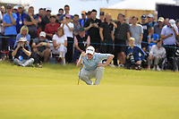 Robert MacIntyre (SCO) on the 5th green during Round 1 of the Aberdeen Standard Investments Scottish Open 2019 at The Renaissance Club, North Berwick, Scotland on Thursday 11th July 2019.<br /> Picture:  Thos Caffrey / Golffile<br /> <br /> All photos usage must carry mandatory copyright credit (© Golffile | Thos Caffrey)