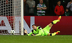 Craig Gordon of Celtic makes a save during the Champions League Group C match at the Celtic Park Stadium, Glasgow. Picture date: September 28th, 2016. Pic Simon Bellis/Sportimage