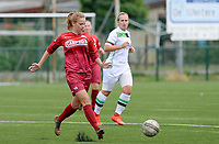 20180815 - Zulte , BELGIUM : Zulte's Amber Bert pictured during a friendly pre season soccer match between the women teams of Zulte Waregem Dames and OHL Oud Heverlee Leuven Dames  , Wednesday 15 August 2018 . PHOTO DAVID CATRY | SPORTPIX.BE
