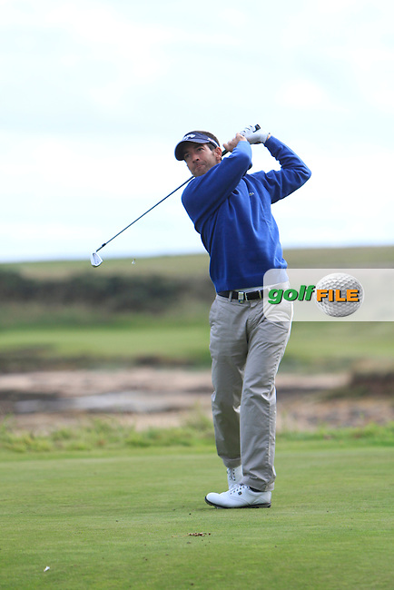 Eduardo De La Riva (ESP) during Round 1of the Alfred Dunhill Links Championship at Kingsbarns Golf Club on Thursday 26th September 2013.<br /> Picture:  Thos Caffrey / www.golffile.ie