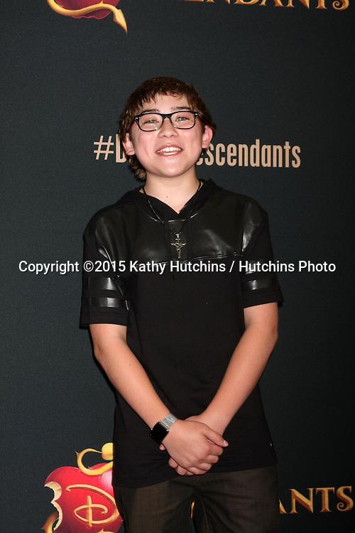 "LOS ANGELES - JUL 24:  Raymond Ochoa at the ""Descendants"" Premiere Screening at the Walt Disney Studios on July 24, 2015 in Burbank, CA"