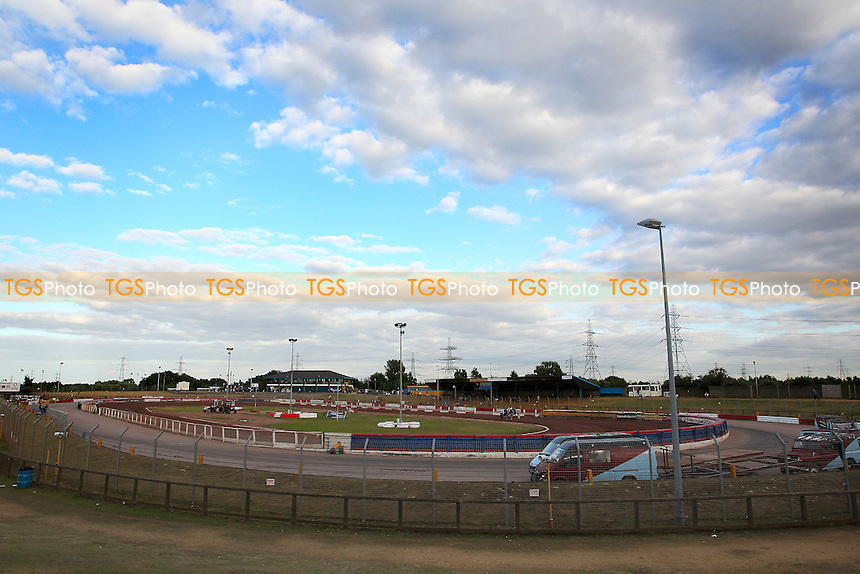 General view of Arena Essex - Lakeside Hammers vs Eastbourne Eagles - Sky Sports Elite League Speedway at Arena Essex Raceway, Purfleet - 09/08/13 - MANDATORY CREDIT: Gavin Ellis/TGSPHOTO - Self billing applies where appropriate - 0845 094 6026 - contact@tgsphoto.co.uk - NO UNPAID USE