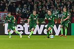 11.02.2018, Weserstadion, Bremen, GER, 1.FBL, SV Werder Bremen vs VfL Wolfsburg<br /> <br /> im Bild<br /> Zlatko Junuzovic (Werder Bremen #16), Max Kruse (Werder Bremen #10), Philipp Bargfrede (Werder Bremen #44), Ludwig Augustinsson (Werder Bremen #5),  <br /> <br /> Foto &copy; nordphoto / Ewert