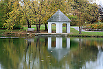 A Gazebo On A Quiet Pond During Autumn, Southwestern Ohio