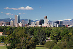 Downtown skyline from City Park, Denver, Colorado, USA .  John offers private photo tours in Denver, Boulder and throughout Colorado. Year-round Colorado photo tours.