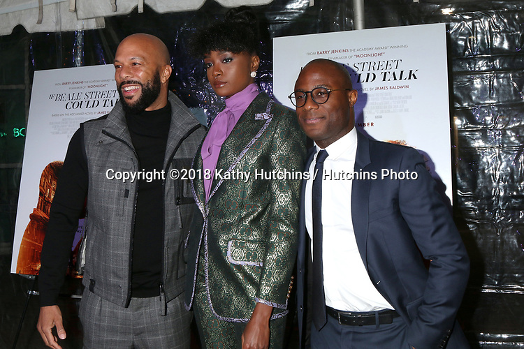 """LOS ANGELES - DEC 4:  Common, Kiki Layne, Barry Jenkins at the """"If Beale Street Could Talk"""" Screening at the ArcLight Hollywood on December 4, 2018 in Los Angeles, CA"""