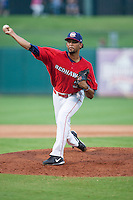 Oklahoma City RedHawks pitcher Richard Rodriguez (31) on the mound during the Pacific League game against the Colorado Springs Sky Sox at the Chickasaw Bricktown Ballpark on August 3, 2014 in Oklahoma City, Oklahoma.  The RedHawks defeated the Sky Sox 8-1.  (William Purnell/Four Seam Images)
