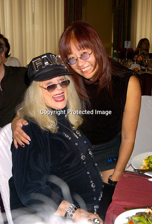 "Sylvia Miles and May Pang ..at the  37th Annual  ""Going Home""  Luncheon for Animal Haven on October 17, 2004 at the Sheraton LaGuardia East...Photo by Robin Platzer, Twin Images"