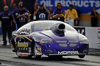 Oct. 31, 2008; Las Vegas, NV, USA: NHRA pro stock driver Vinnie Deceglie launches off the starting line during qualifying for the Las Vegas Nationals at The Strip in Las Vegas. Mandatory Credit: Mark J. Rebilas-