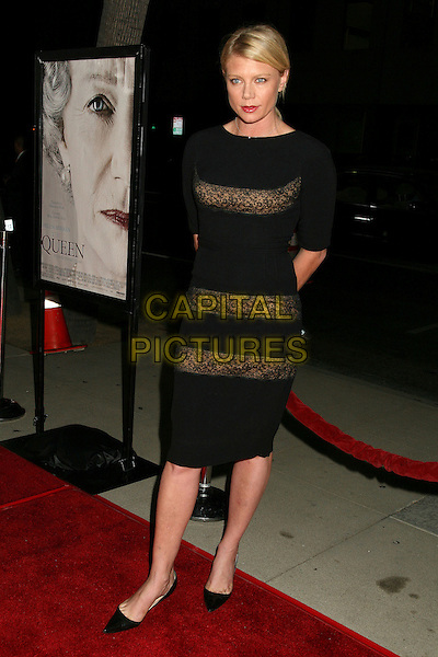 "PETA WILSON.Los Angeles Premiere of ""The Queen"", Beverly Hills, California, USA..October 3rd, 2006.Ref: ADM/BP.full length black dress see through thru lace .www.capitalpictures.com.sales@capitalpictures.com.©Byron Purvis/AdMedia/Capital Pictures."
