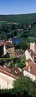 Europe/France/Midi-Pyrénées/46/Lot/Saint-Cirq-Lapopie: les maisons du village - Les Plus Beaux Villages de France