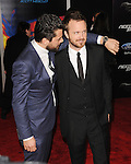 "Dominic Cooper and Aaron Paul arriving at the ""Need For Speed Premiere"" held at TCL Chinese Theatre Los Angeles, Ca. March 6, 2014."