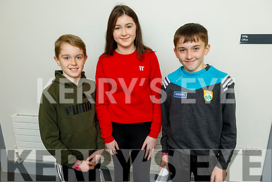 Paddy, Eadaoin and Tadgh O'Sullivan from Glenbeigh at the CCÉ County finals of Ceol an Gheimhridh in the Dúchas Comhaltas Centre, IT Tralee on Saturday.
