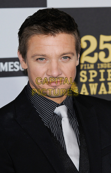 JEREMY RENNER .The 25th Annual Film Independent Spirit Awards at the LA Live Event Deck in Los Angeles, California, USA..March 5th, 2010  .headshot portrait black grey gray tie.CAP/ROT.©Lee Roth/Capital Pictures